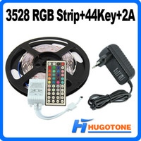 Wholesale Waterproof Led SMD RGB Flexible Led Strip Changable Lights Degrees with Keys Keys IR Remote V A Power Supply