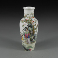 beauty vases - Antique Chinese Porcelain Vase with Hand painted Ancient Beauty Painting Home Decor Ceramic Art Collection