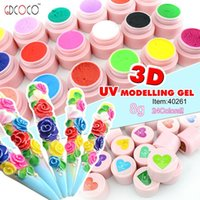 acrylic art sculpture - GDCOCO D Modeling UV Gel Sculpture Carving Gel Acrylic Colour Nail Art Tips Creative Manicure Decoration g