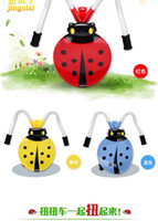 Wholesale 2016 factory direct children ladybird beetle shook his car Children shilly car with music glide plastic