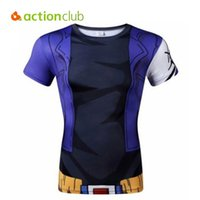 animations camping - Actionclub Men Compression Outdoor T Shirt Quick Dry Breathable T Shirts Fashion Summer D Print Animation Cartoon Shirts SR291
