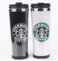 Wholesale wholesales Starbucks Double Wall Stainless Steel Mug wholesales Flexible Cups Coffee Cup Mug Tea Travelling Mugs Tea Cups Wine Cups