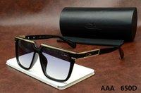 Wholesale Cazal Women Sunglasses - 2016 New Cazal Sunglasses 650D Fashion Brand Men Women Polarized Sunlasses Famous Designer Cat Eye Sun Glasses Coating Glasses Gafas De Sol