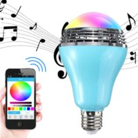 Wholesale 2016 New Arrival Colorful Bulb V APP Control E27 wireless Bluetooth stereo speaker With LED Light universal IOS Android