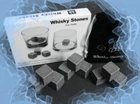 Wholesale set Cooling Ice Cube Rock Whiskey Stones Fast Ice Barware tool sale