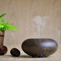 Wholesale LED Aroma Diffuser Ultrasonic Humidifier Ionizer Aroma Humidifier Wood grain Air Cleaning Cooling by DHL