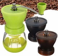 Wholesale Manual Ceramic Burr Coffee Grinder Hand Mill Coffee Bean Pepper Grinder Home Office Coffee maker