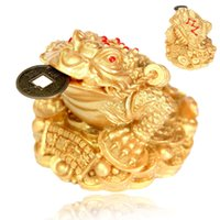 Wholesale Hot Sale Feng Shui Money LUCKY Fortune Oriental Chinese I Ching for Frog Toad Coin Home Decor price