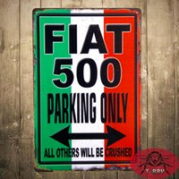 aluminum parking signs - quot FIAT PARKING ONLY quot Metal Tin Signs Garage Poster Restaurant Bar With Striking Home Decor Man Cave