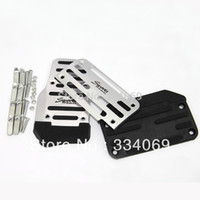 Wholesale kit fitting Universal Aluminum Automatic Transmissionn Pieces Silver White and Black Non Slip Car Pedal Cover Set Kit