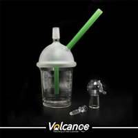 Wholesale Starbuck Cup glass bong types dabber oil rigs Dabuccino Evol glass bubbler bongs dome nail hookah Hookah water filter pipe