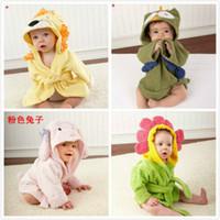 Wholesale Baby animal towel Hooded kids bath towel Animal Modeling Swimming bathrobe Baby cartoon Pajamas A092127