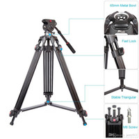 aluminum camera bags - JY0508A m Foldable Telescoping Aluminum Alloy DSLR Camera Camcorder Video Tripod with Fluid Drag Head Padded Bag