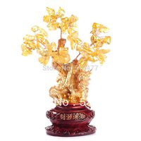 antique shoe trees - natural Crystal lucky tree bring in wealth and treasure fortune tree JX1732