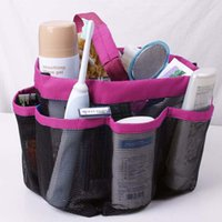 Wholesale 8 Pocket Shower Caddy Bath Caddy Cosmetics Organizer Portable Storage Tote Carry Hanging Bag Bathroom Products