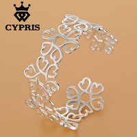 big huge snakes - 2016 Fashion silver Bracelet Bangles Heart Flower big huge heavy Women Price Factory Direct Sale CYPRIS