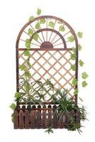 Wholesale Flower Pot Wood Pastoral Flower Pot Tray Decorative Garden Pot For Flowers