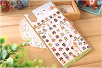 Wholesale Adhesive Stickers Owl paper stickers book decor diary sticker cute owls sheet size cm several pieces on a sheet owl stationery