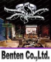 beds for hotel - New modern lustre crystal lights design for living room bed room home lighting decoration led ceiling lights LLFA