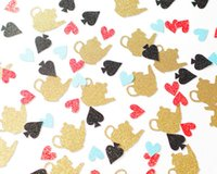 alice in wonderland decor - Alice in Wonderland Teacup Glitter Confetti Table Scatter Girl s Party Decor Supplies