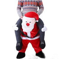 Wholesale Hot new high quality Santa Claus Mascot Costume Carry Me Fancy Dress Ride On Halloween Costumes