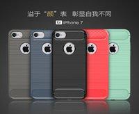 apple skin fiber - Rugged Armor Hybrid Carbon Fiber Shockproof Hard Cover Case Skin For Apple iPhone S Plus inch SE S MOQ