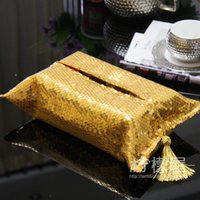 Wholesale Luxurious golden Qi Liang piece of paper towel napkin Set European fashion beads box stalls with a seckill
