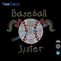 baseball rhinestone iron on transfers - Major Products Baseball Sister Rhinestone Iron On Transfer Appliques Rhinestone For DIY t Shirts Decoration