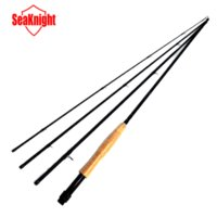 Wholesale SeaKnight Hot Segments Sections Fly Fishing Rod Full Metal Reel WaterProof Rod Bag Lines Box Lure Super Quality Set Kit