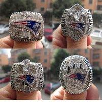 Alta calidad del fútbol de los patriotas de anillos 4Pcs 2001 2003 2004 2014 chapado en oro del Super Bowl anillos de campeonato