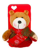 bear cove - Customized Design Christmas Gift Cute Bear Silicone Case Cove for iPhone s Plus Silicone Case with Bear Soft Toy