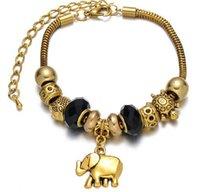 acrylic eiffel tower - Fashion DIY alloy Glass Shamballa Beaded Bracelet owl Elephant Eiffel Tower Kabbalah Hand pendants charm bracelets high quality