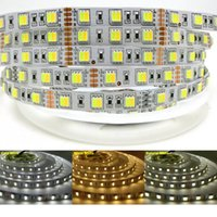 Wholesale Smd Led Dual Color - New arrival Dual white Color Temperature LED Strip 5050 DC 12V 5m Roll 300leds , Warm White + White in One Chip ,60LED m flexible light