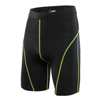 Wholesale Men s PRO Sports Fitness Running Shorts Tights Sport Gym Clothing Men High Waist Strench Quick drying Wicking Sportswear