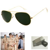 anti green glass - hot new men s anti Vertigo UV400 sunglasses metal frame glass top quality women bright sunglasses