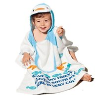 Wholesale New Arrive Cartoon Animal Baby Towel Cotton Baby Bath Towel Newborn Hooded Baby Towels Children Towels Toalla Bebe