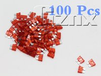 Wholesale 100X New Red A Assorted Auto Standard Blade Car Fuse Mini For Auto Cars Trucks