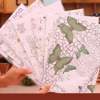 Wholesale envelops writting paper Coloring Envelope Tintage writting paper DIY Painting Secret Garden Colouring paper