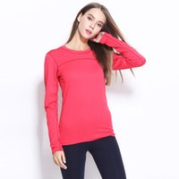 Wholesale Outdoor activities during the spring and autumn big yards quick drying long sleeved T shirt female yoga running breathable quick drying elas