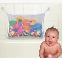 bathtub organizer - New Arrive Baby Toy Mesh Storage Bag Bath Bathtub Doll Organizer Suction Bathroom Stuff Net