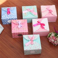 Cheap Wedding Boxes High-grade Small Gift Sweet Box Candy Box Carton For Party For Wedding Supplies Folding Carton Green pink light pink blue box