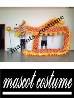 Wholesale 10m size For adults silk fabric Chinese Spring Day Chinese DRAGON DANCE ORIGINAL Dragon Chinese Folk Festival Celebration Costume