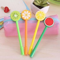 ball point ink - New Fruit Lollipops Gel Pen mm Black Ink Pens Ball Point Pens School Office Supplies Papelaria