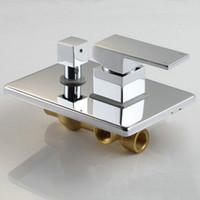 bath diverter valve - 2 Function With Diverter Way Shower Panel Valve Bathroom Bath Mixer Tap Chrome Brass