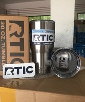 Wholesale 50pcs OZ RCTI Cups Hot Bilayer Stainless Steel Insulation Cup Cars Beer Mug Large Capacity Mug Tumblerful with package