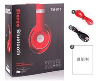 Wholesale TM High Quality Hot Bluetooth Headband Headset TM010 Neckhand Headphone Headsets With Mic Colors Support TF Card With Without LOGO