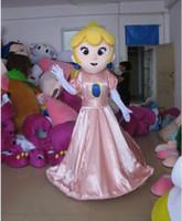adult princess peach costume - 2016 high quality Princess Toadstool Peach mascot costume princess mascotte costume princess costume for adults