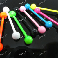 Wholesale Hot Sale Color Noctilucous Lip Belly Eyebrow Ear Barbell Piercing Jewelry Bulks Plug LR537
