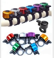 Wholesale Aluminum Alloy Loud Sound Bicycle Bell Handlebar Safety Metal Ring Environmental Bike Cycling Horn Multi Colors