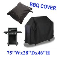 barbecue covers - 2 Size Black Waterproof Bbq Cover Outdoor Rain Barbecue Grill Protector For Gas Charcoal Electric Barbeque Grill